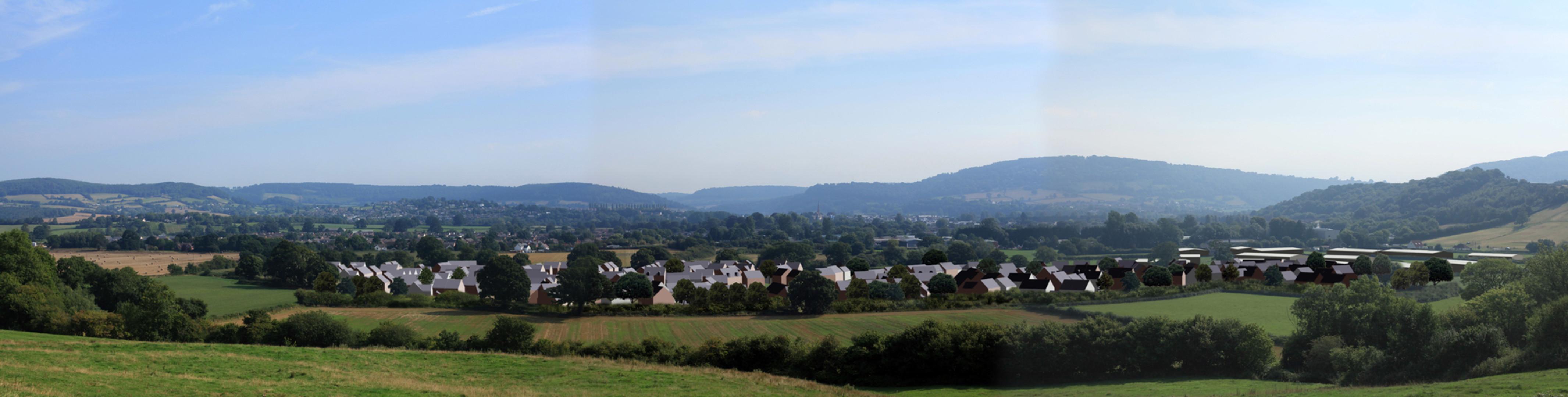 Wonastow Rd, Monmouth Photomontage