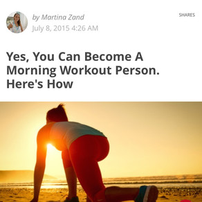 Yes, You Can Become A Morning Workout Person. Here's How.