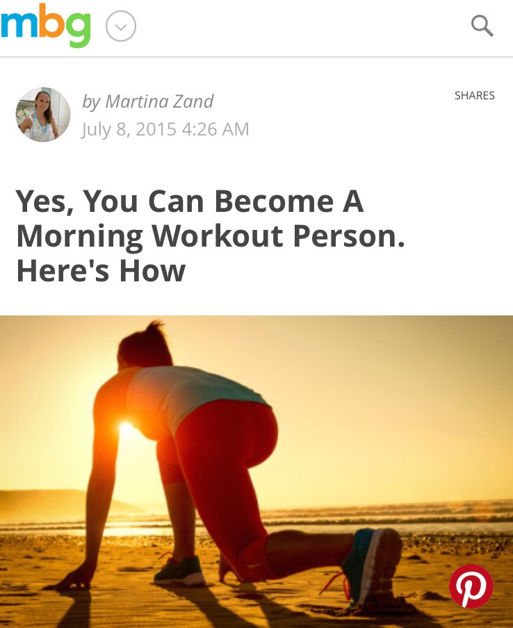 Yes, you can become a morning workout person.