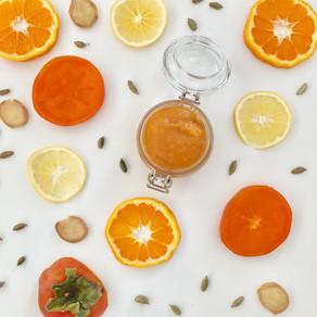 Cardamom persimmon jam