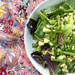 Spring Greens Salad With Tarragon And Chives Dressing