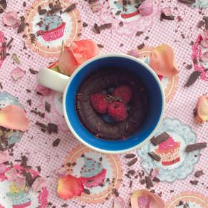 Gooey chocolate mug cake
