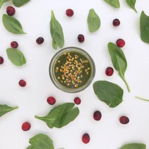 Cranberry mango green smoothie