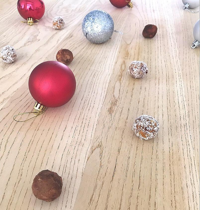 Raw Christmas balls