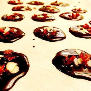 Raw Christmas chocolates