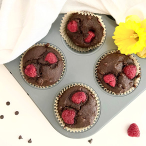 The Anniversary Muffin: Chocolate Rose Raspberry Muffin