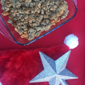 Holiday apple crumble