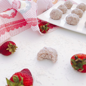 Strawberry and cream bites