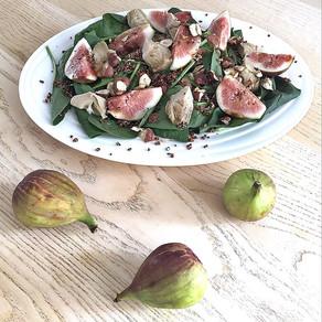 Fig artichoke salad with quinoa