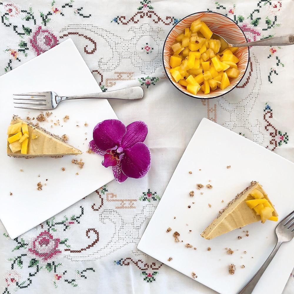 Raw mango orange cream cake | www.martinazand.com