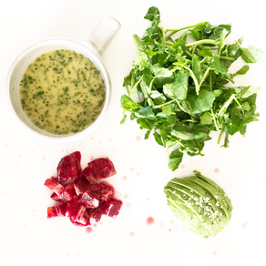 Light little watercress salad with blood orange and avocado