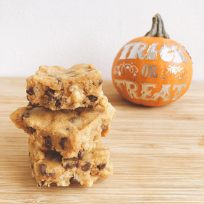 Halloween pumpkin chocolate rice crispy treats