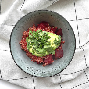 Beetroot rice bowl