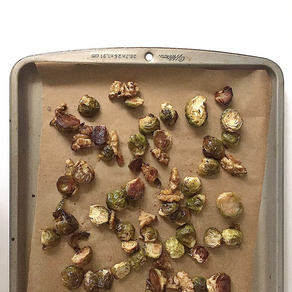 Maple balsamic glazed Brussels sprouts