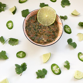 Turning the last tomatoes of the season into delicious salsa