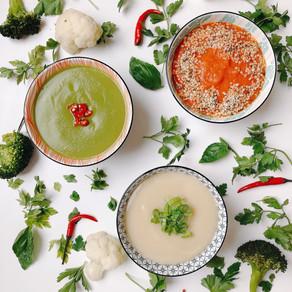 Super easy blended vegetable soups