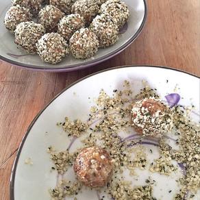 Hemp seed energy balls