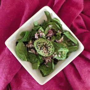Baby spinach and bean salad
