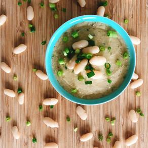 Miso white bean dip