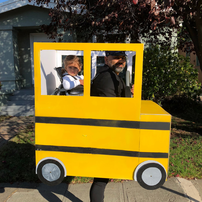 The wheels on the bus Halloween