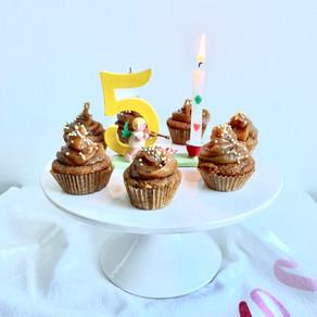 Baby Zand's Birthday Salted Caramel Cupcakes