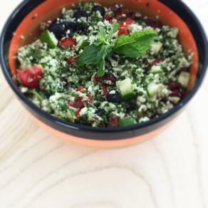 Raw cauliflower tabbouleh - raw foods part 1