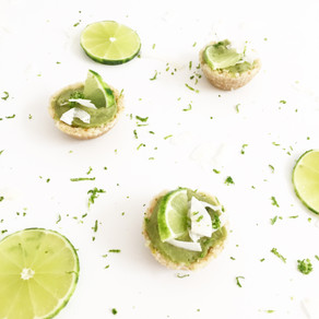 Raw key lime tarts