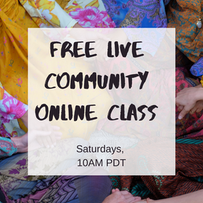 Next free community class happening live this Saturday