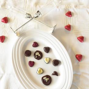 Valentine's Day raw raspberry chocolate cups