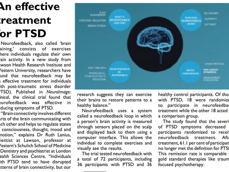 Neurofeedback as An effective treatment for PTSD