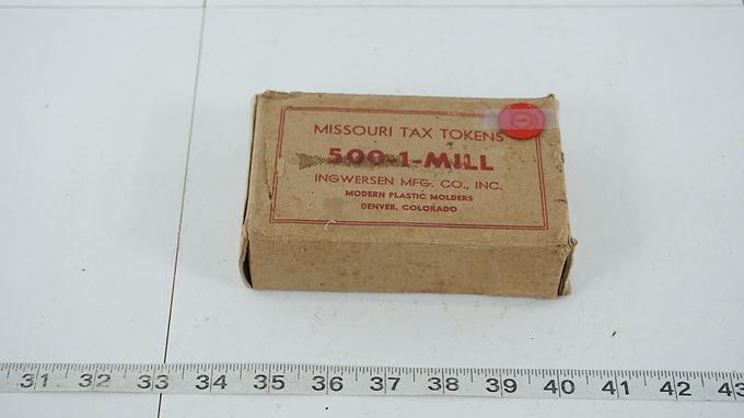 Box Of Missouri Tax Tokens 500-1- Mill