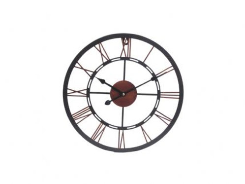 Mini Black and Copper Skeletal Clock