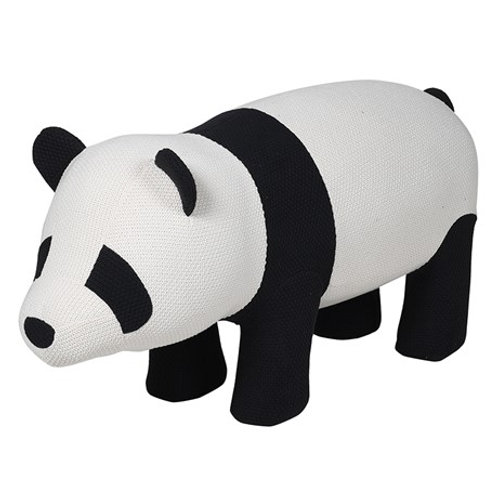 Large Knitted Panda Stool