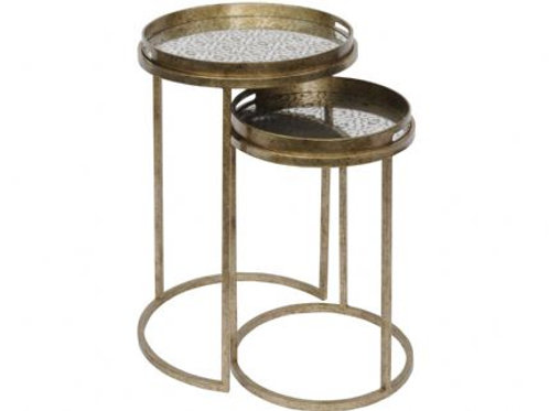 Set of 2 Diamond Patterned Tray Tables