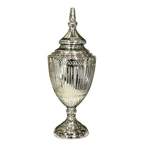 Large Florentine Antique Silver Chalice Jar