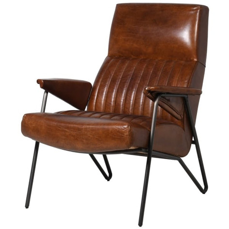 Oxford Lounger Chair in Leather or Velvet