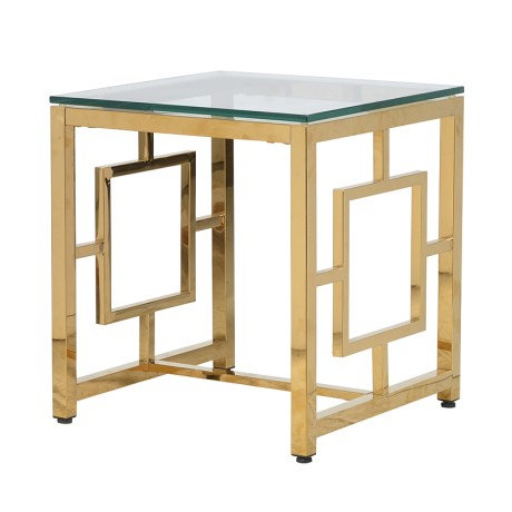 Gold Square End Table