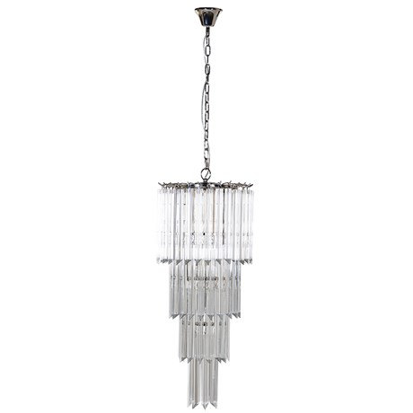 Tiered Crystal Pendant Lamp