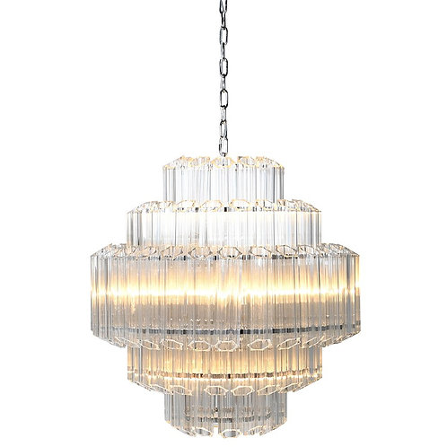 Crystal Tube Chandelier