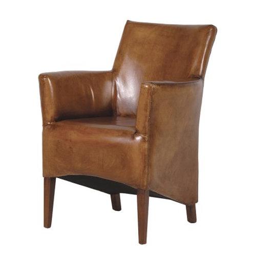 Italian Leather Tub Chair
