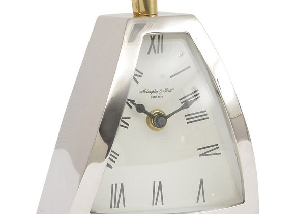 Isosceles Curved Front Mantel Clock