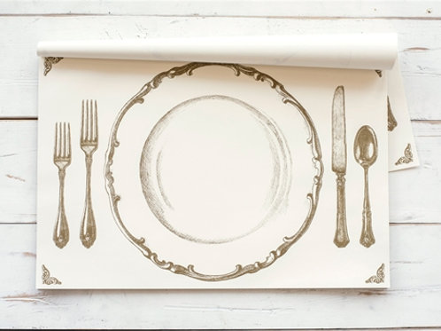 Gold Table Setting Paper Placemats