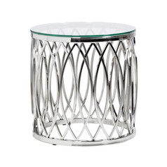 Stainless Steel End Table