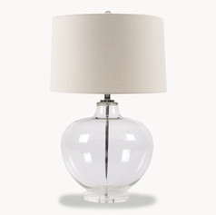 Clear Glass Lamp with Shade