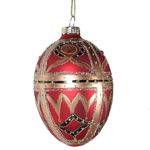 Red & Gold Egg Bauble
