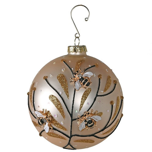Gold Bumble Bee Bauble