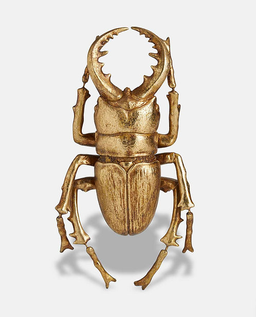 Large Gold Beetle Wall Décor