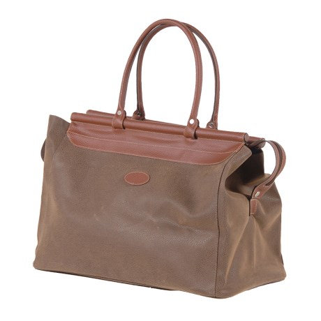 Brown Bar Top Weekend Bag
