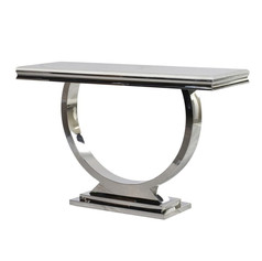 Steel & Marble Console Table