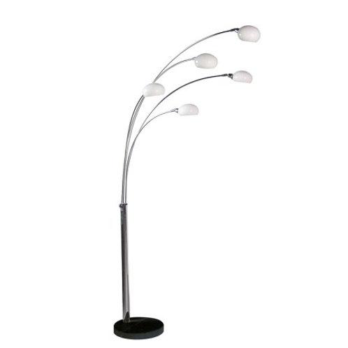 Tall 5 Arm Chrome Floor Lamp